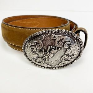 Nocona Leather Western Belt Buckle Size 28